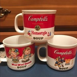 1989 Campbell's Trip Soup Mugs